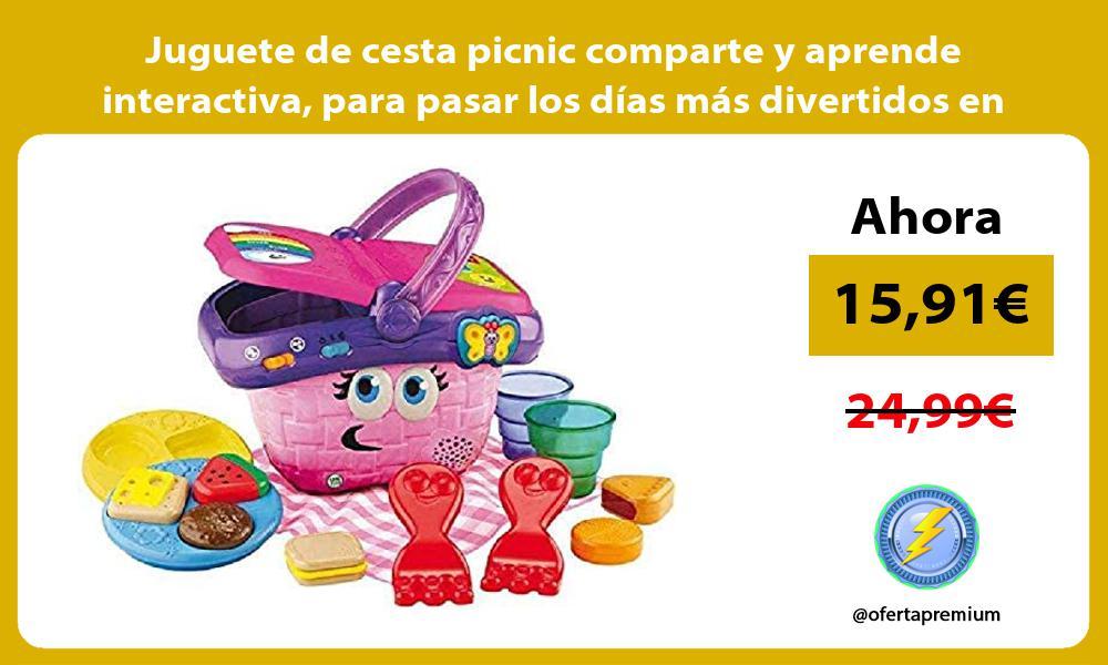 Juguete de cesta picnic comparte y aprende interactiva para pasar los días más divertidos en casa