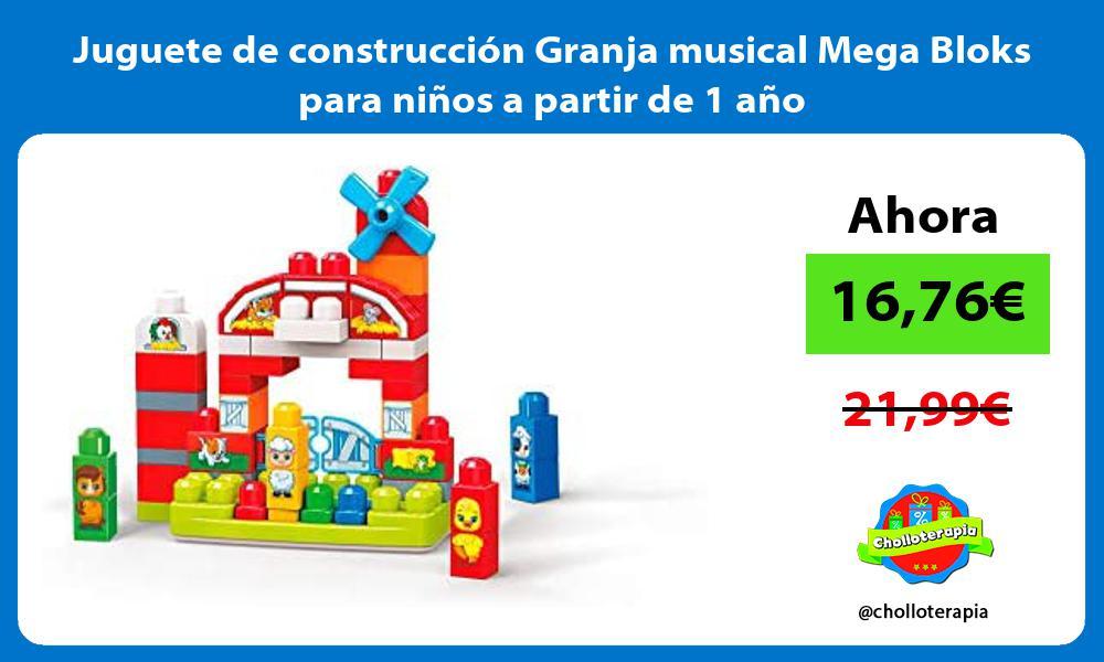Juguete de construcción Granja musical Mega Bloks para niños a partir de 1 año