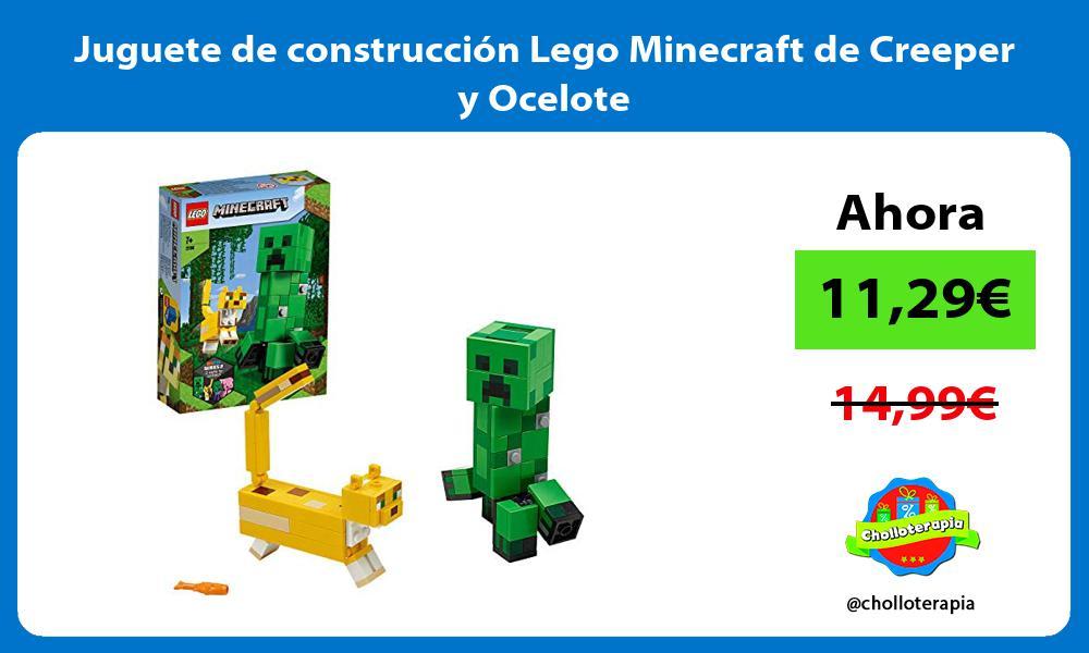 Juguete de construcción Lego Minecraft de Creeper y Ocelote