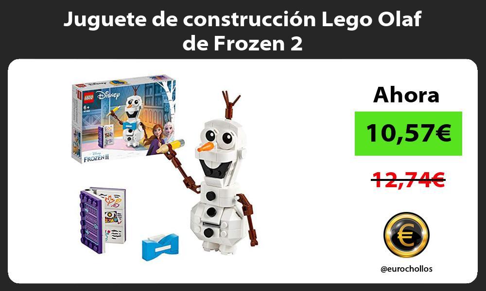 Juguete de construcción Lego Olaf de Frozen 2