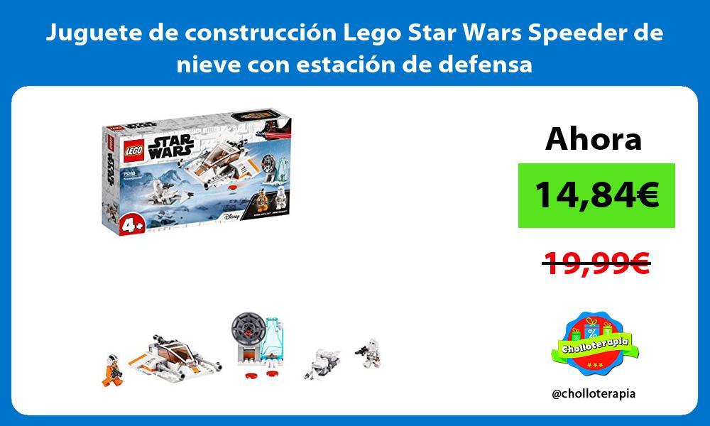 Juguete de construcción Lego Star Wars Speeder de nieve con estación de defensa