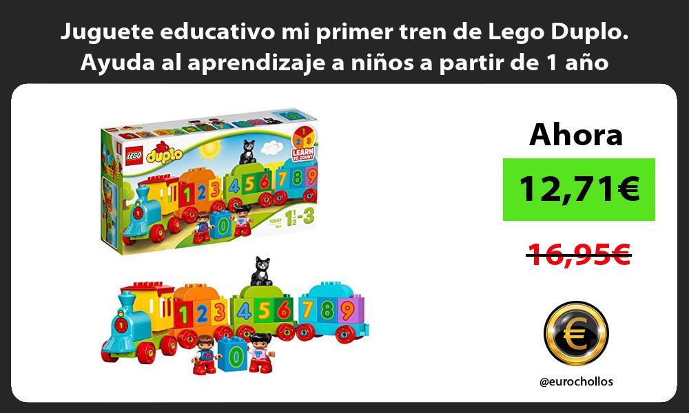 Juguete educativo mi primer tren de Lego Duplo Ayuda al aprendizaje a niños a partir de 1 año