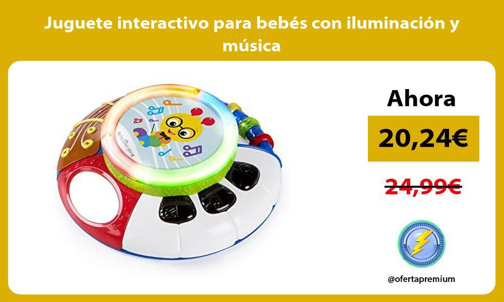 Juguete interactivo para bebés con iluminación y música