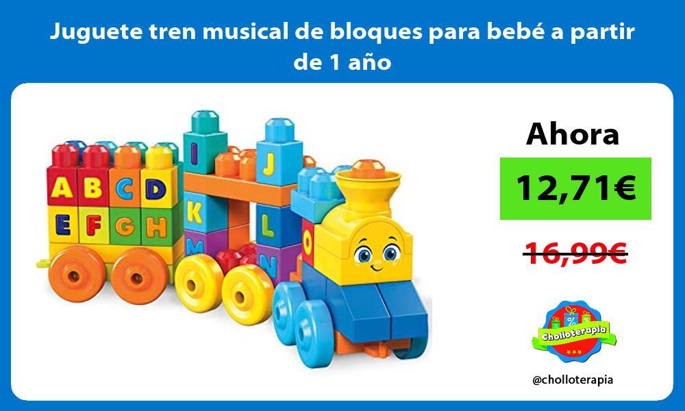 Juguete tren musical de bloques para bebé a partir de 1 año