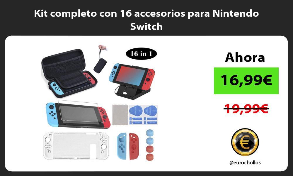 Kit completo con 16 accesorios para Nintendo Switch