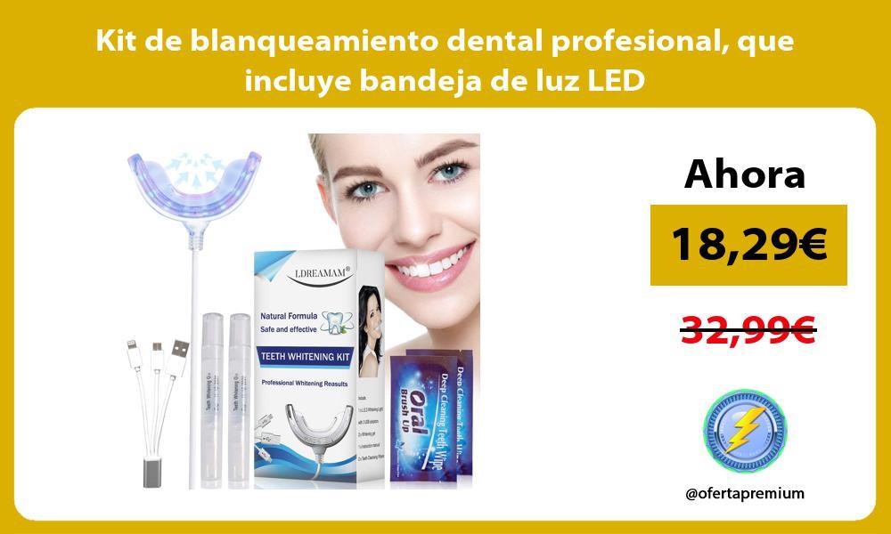 Kit de blanqueamiento dental profesional que incluye bandeja de luz LED