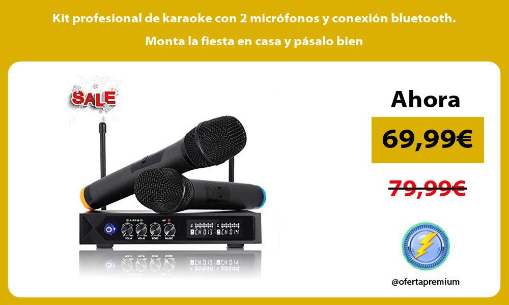 Kit profesional de karaoke con 2 micrófonos y conexión bluetooth Monta la fiesta en casa y pásalo bien