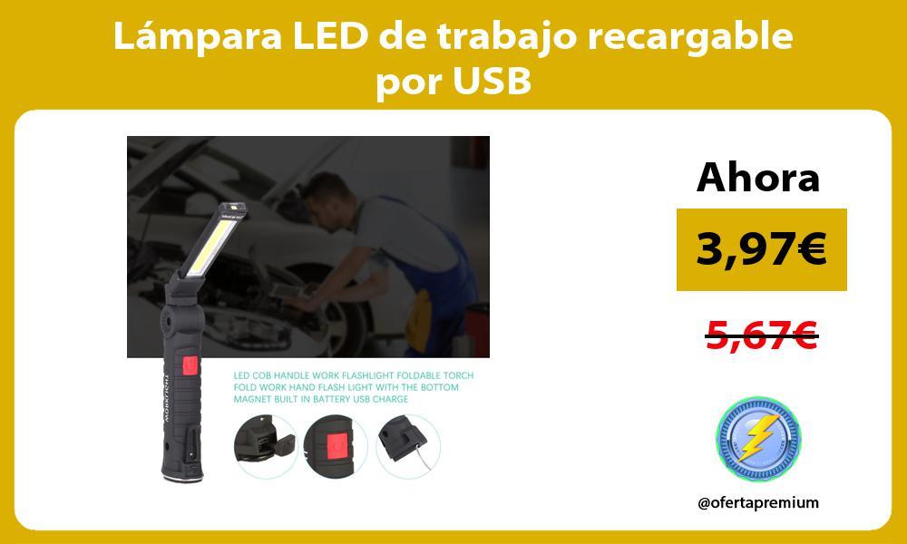 Lámpara LED de trabajo recargable por USB