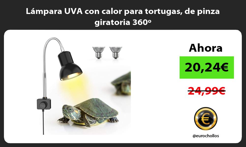 Lámpara UVA con calor para tortugas de pinza giratoria 360º