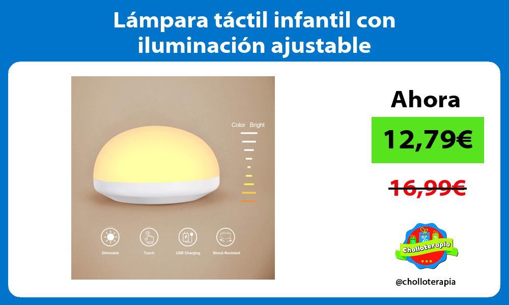 Lámpara táctil infantil con iluminación ajustable