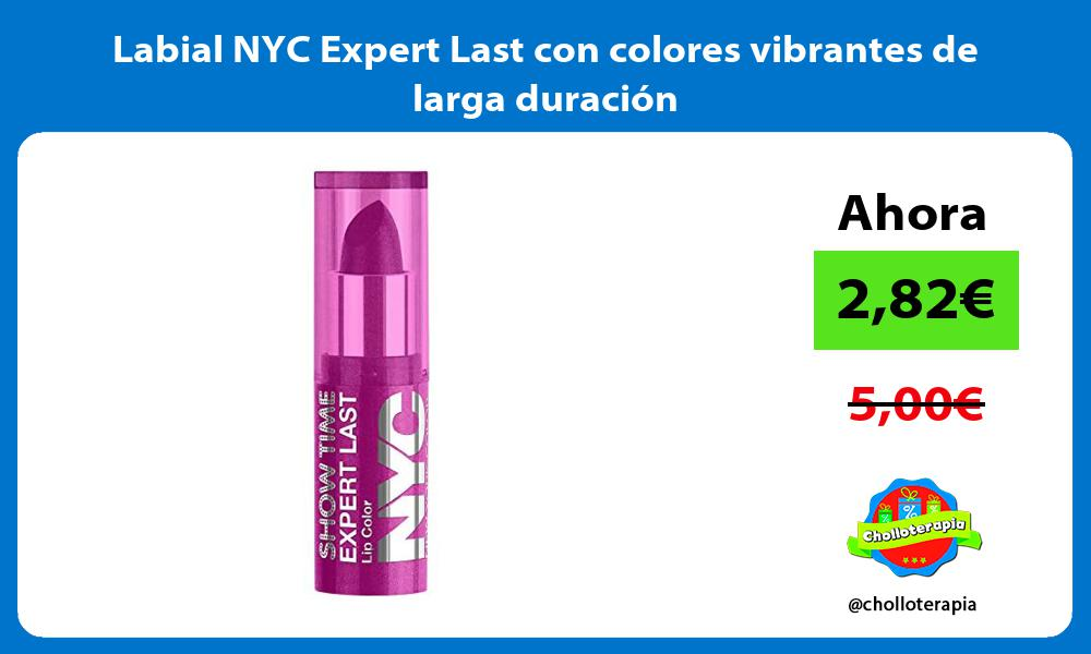 Labial NYC Expert Last con colores vibrantes de larga duración