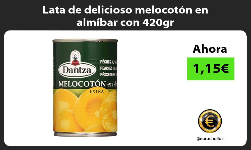 Lata de delicioso melocotón en almíbar con 420gr
