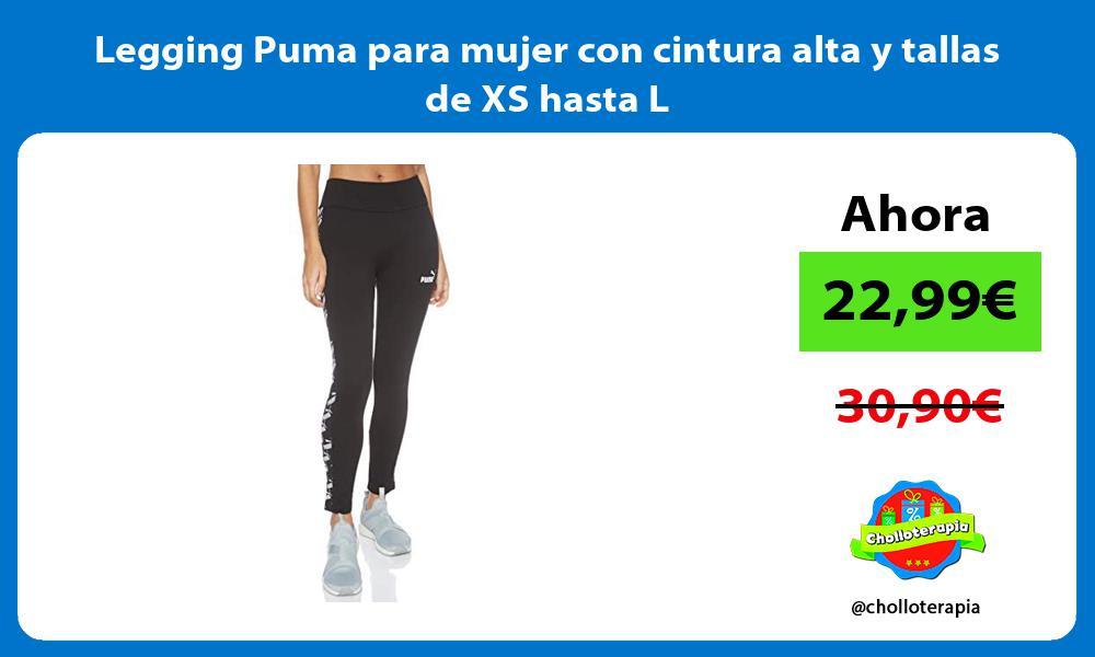 Legging Puma para mujer con cintura alta y tallas de XS hasta L