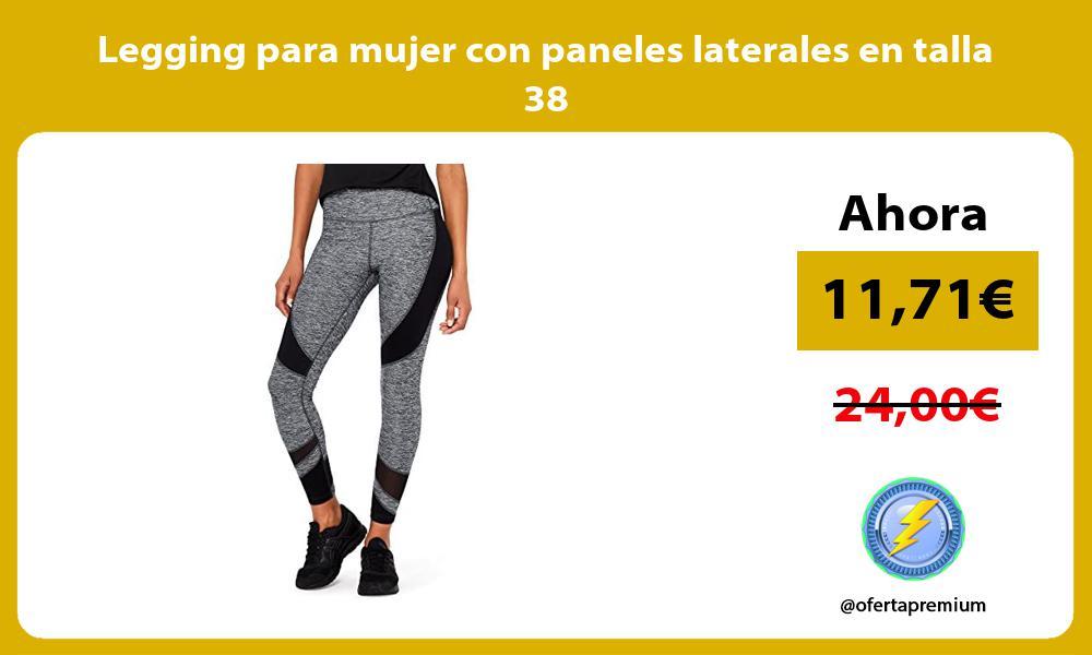 Legging para mujer con paneles laterales en talla 38