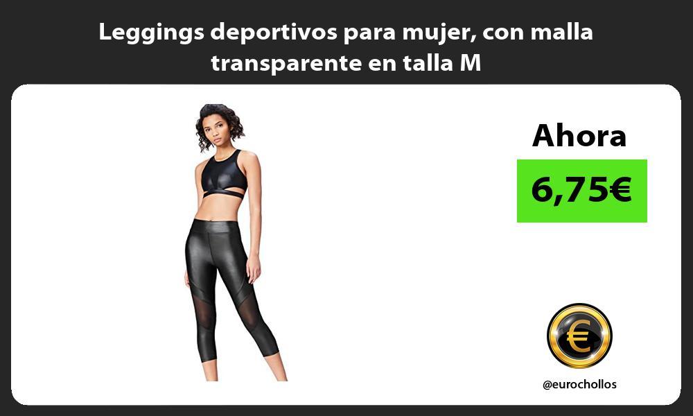 Leggings deportivos para mujer con malla transparente en talla M