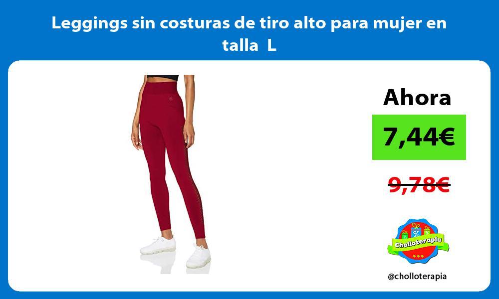 Leggings sin costuras de tiro alto para mujer en talla L