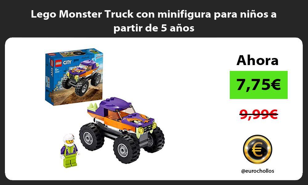 Lego Monster Truck con minifigura para niños a partir de 5 años