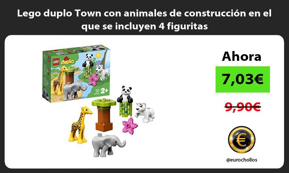 Lego duplo Town con animales de construcción en el que se incluyen 4 figuritas