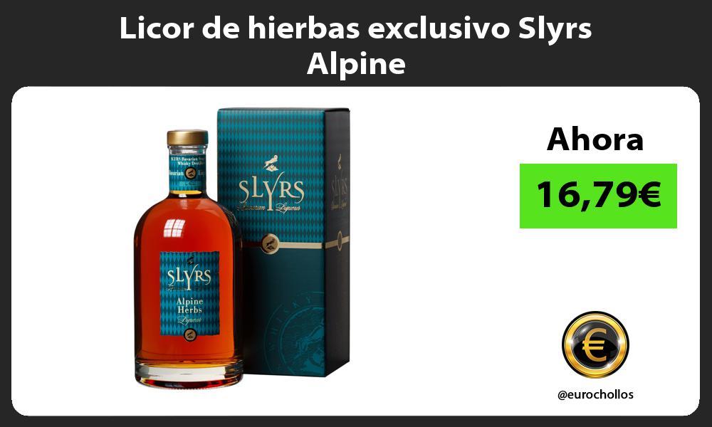 Licor de hierbas exclusivo Slyrs Alpine