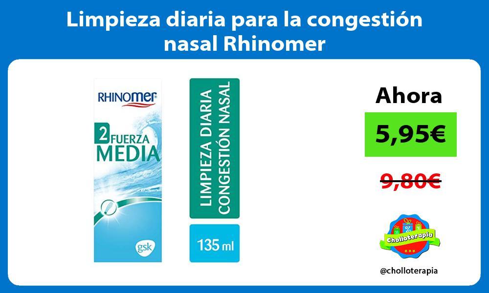 Limpieza diaria para la congestión nasal Rhinomer