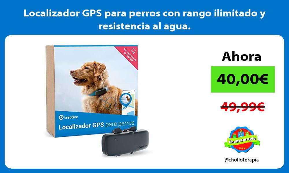 Localizador GPS para perros con rango ilimitado y resistencia al agua