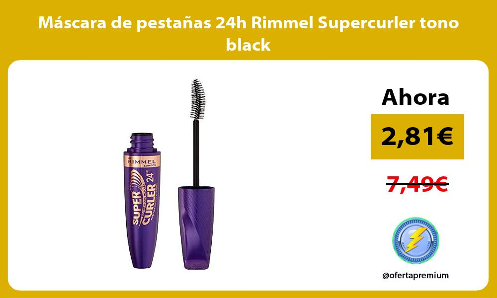 Máscara de pestañas 24h Rimmel Supercurler tono black
