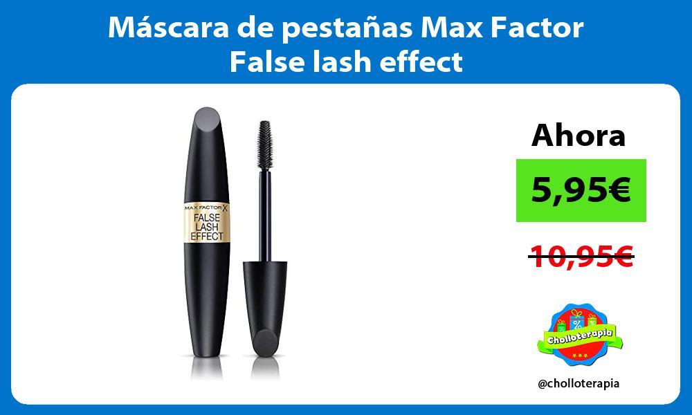 Máscara de pestañas Max Factor False lash effect