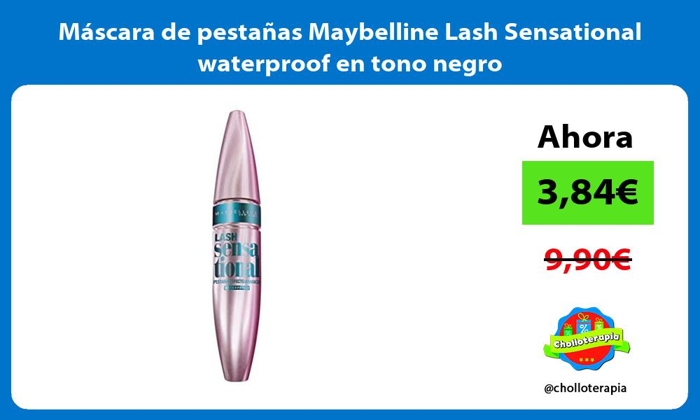 Máscara de pestañas Maybelline Lash Sensational waterproof en tono negro