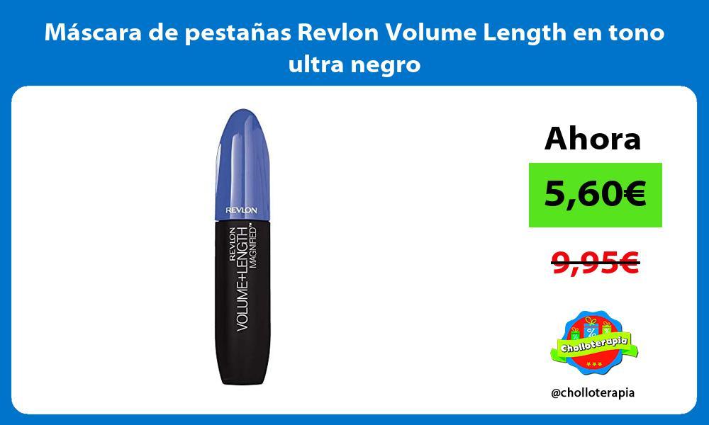 Máscara de pestañas Revlon Volume Length en tono ultra negro
