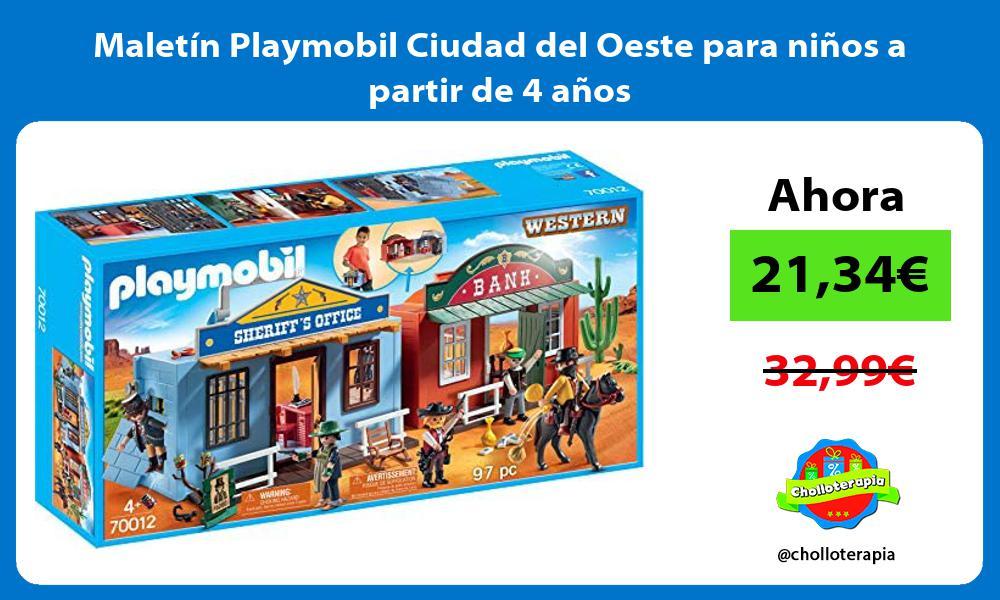 Maletín Playmobil Ciudad del Oeste para niños a partir de 4 años