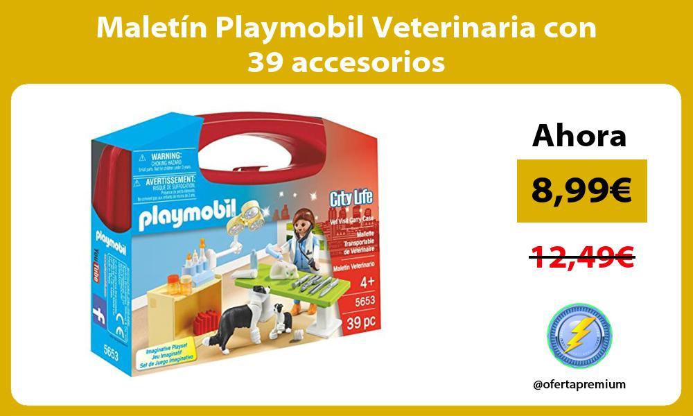 Maletín Playmobil Veterinaria con 39 accesorios