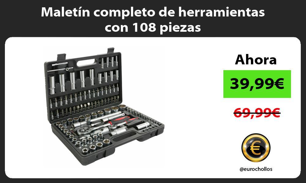 Maletín completo de herramientas con 108 piezas