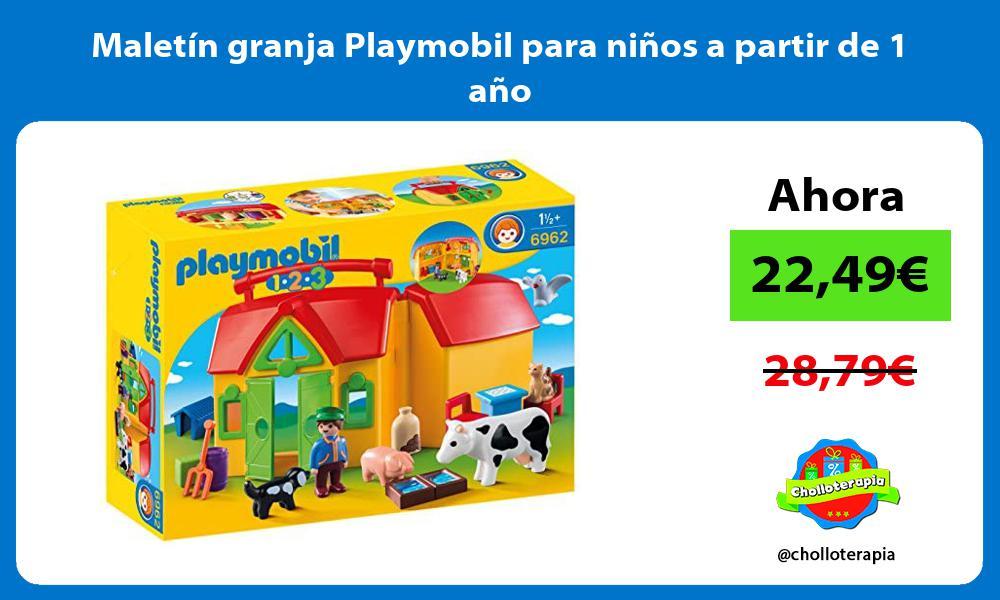 Maletín granja Playmobil para niños a partir de 1 año