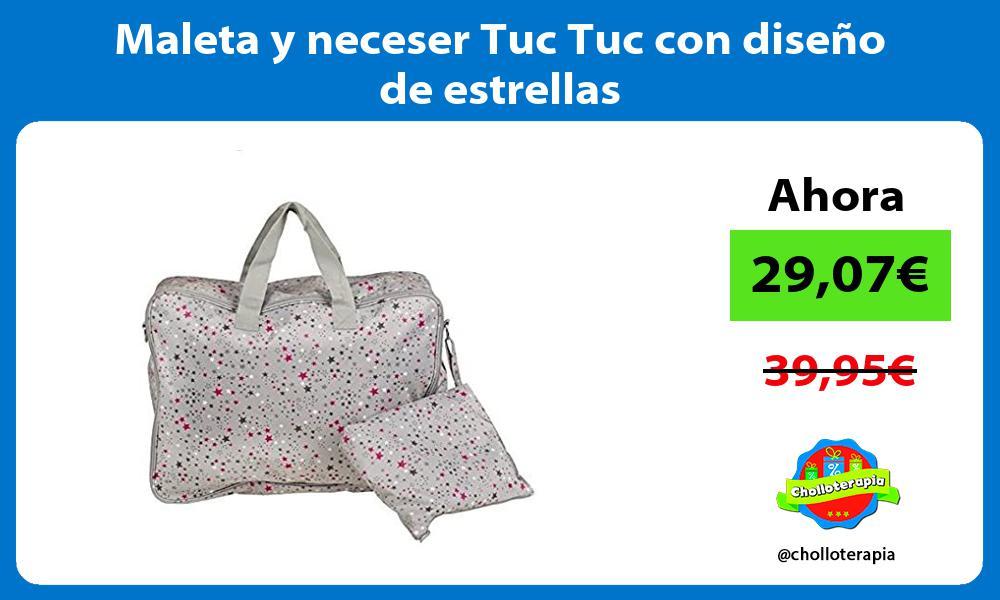 Maleta y neceser Tuc Tuc con diseño de estrellas