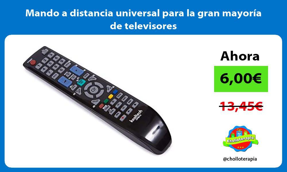 Mando a distancia universal para la gran mayoría de televisores