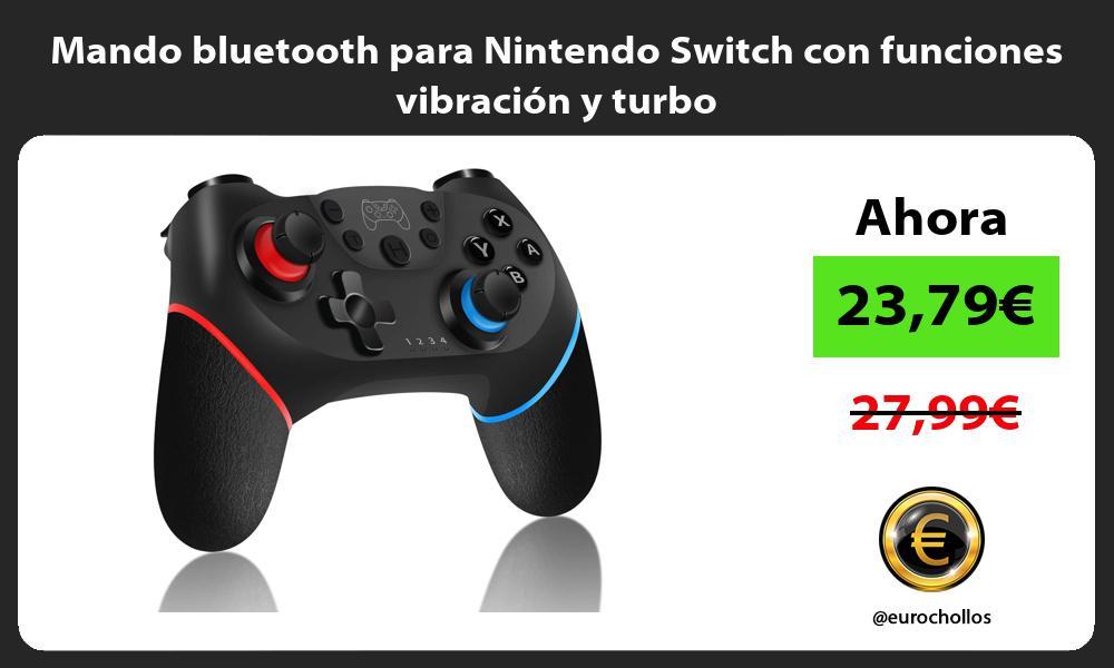 Mando bluetooth para Nintendo Switch con funciones vibración y turbo
