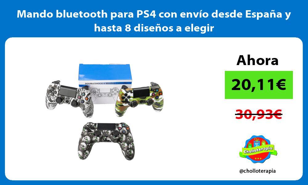 Mando bluetooth para PS4 con envío desde España y hasta 8 diseños a elegir
