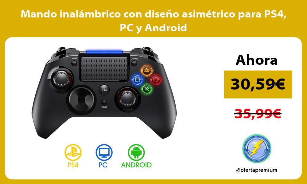 Mando inalámbrico con diseño asimétrico para PS4 PC y Android