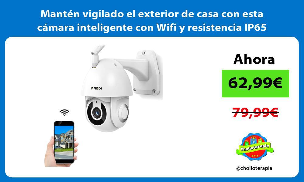 Mantén vigilado el exterior de casa con esta cámara inteligente con Wifi y resistencia IP65