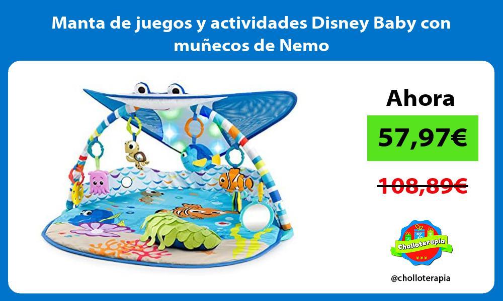 Manta de juegos y actividades Disney Baby con muñecos de Nemo
