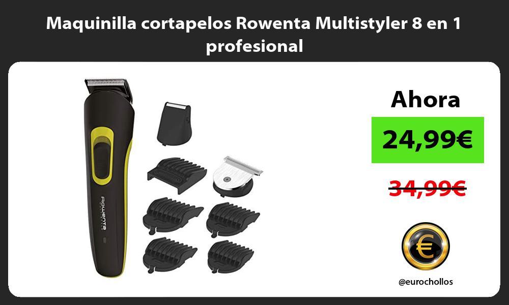 Maquinilla cortapelos Rowenta Multistyler 8 en 1 profesional