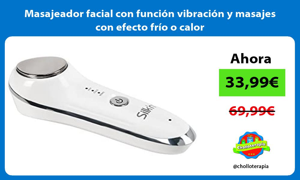 Masajeador facial con función vibración y masajes con efecto frío o calor