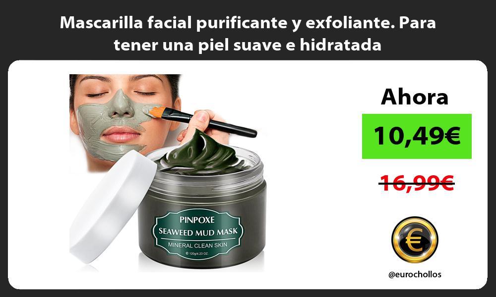 Mascarilla facial purificante y exfoliante Para tener una piel suave e hidratada