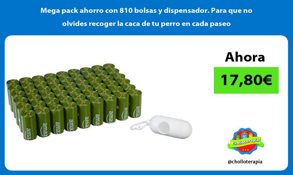 Mega pack ahorro con 810 bolsas y dispensador Para que no olvides recoger la caca de tu perro en cada paseo