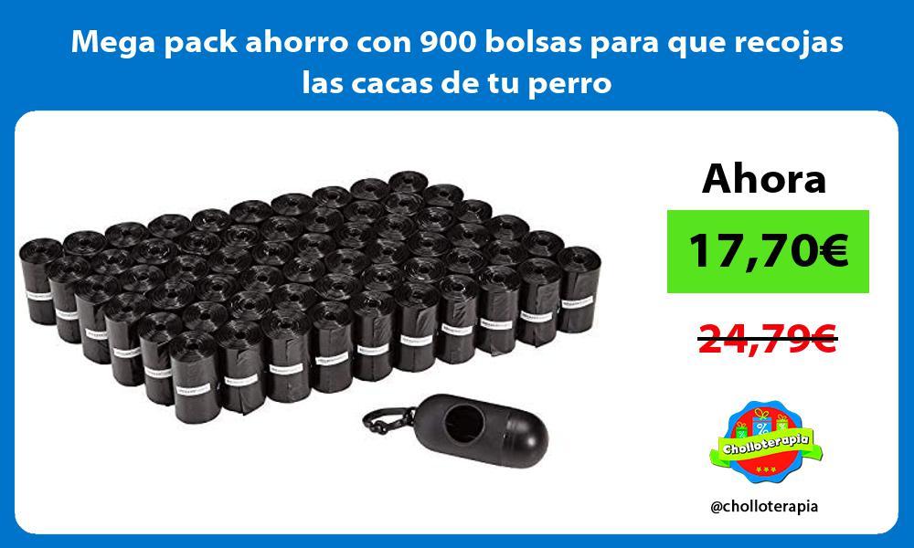 Mega pack ahorro con 900 bolsas para que recojas las cacas de tu perro