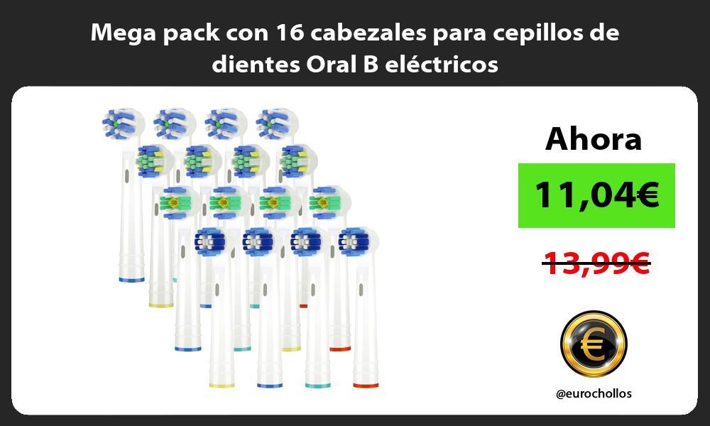 Mega pack con 16 cabezales para cepillos de dientes Oral B eléctricos