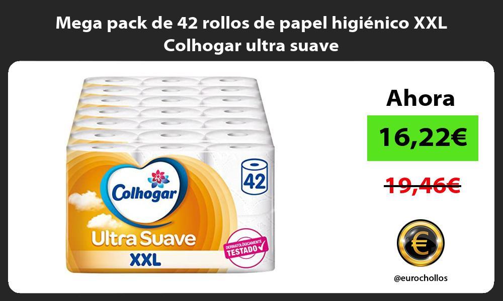 Mega pack de 42 rollos de papel higiénico XXL Colhogar ultra suave