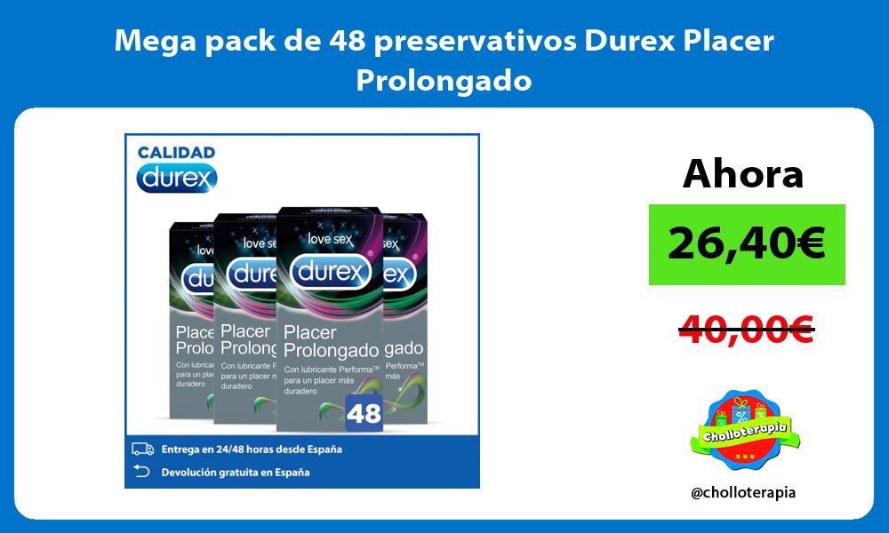 Mega pack de 48 preservativos Durex Placer Prolongado