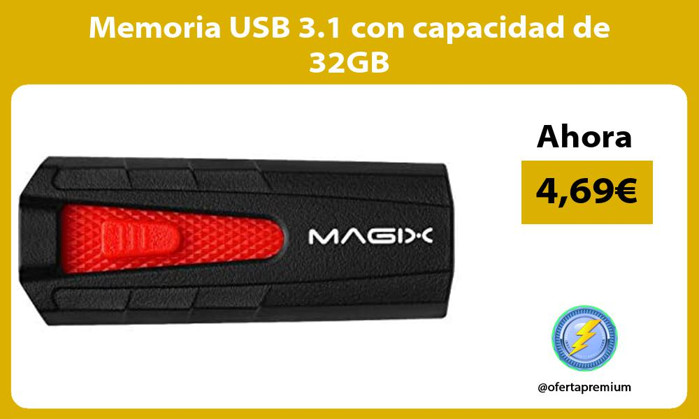 Memoria USB 3 1 con capacidad de 32GB