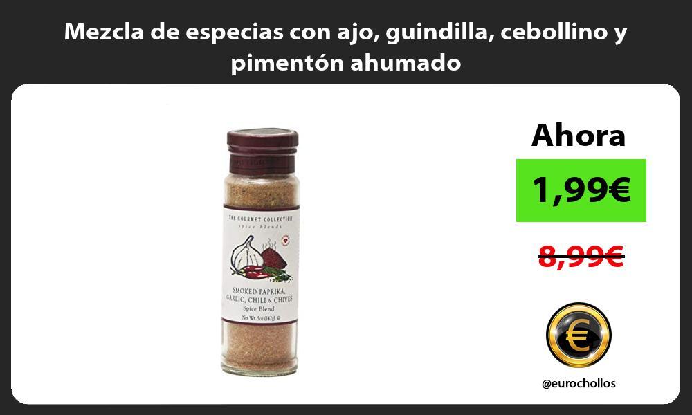 Mezcla de especias con ajo guindilla cebollino y pimentón ahumado
